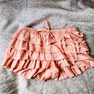 Aerie Pink Ruffled Pajama Sleep Shorts